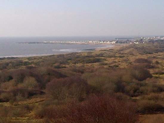 Merthyr Mawr Sand Dunes: The view towards Porthcawl from the top of one of the dunes