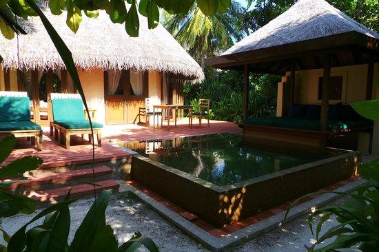 Coco Palm Dhuni Kolhu : terasse...de la chambre