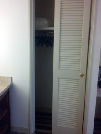 Hyatt Regency Orlando : The closet for a suite is very small but the dressing table is great!!