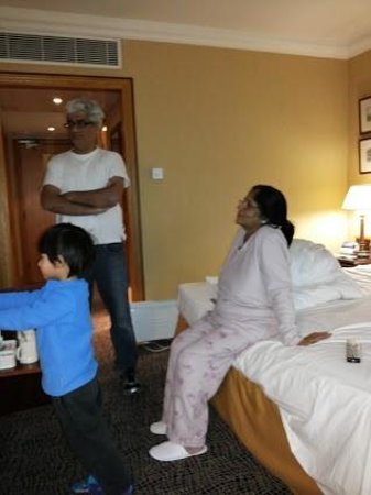 Grand Harbour Hotel: My wife, son & grandson in our room