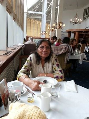 Grand Harbour Hotel: My wife in the restaurant