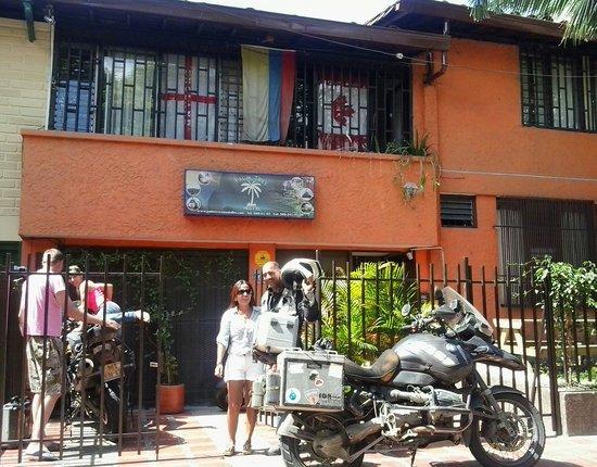 Palm Tree Hostal Medellin: Welcome Motorcyclist to Palm Tree Hostel Medellin Colombia