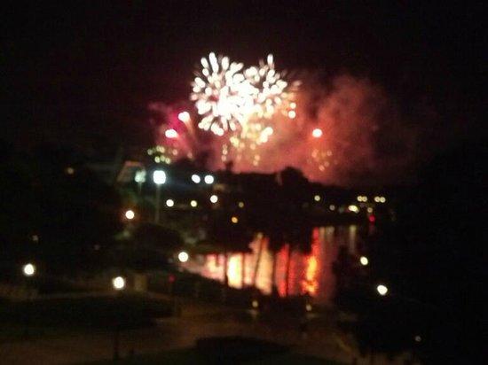 Disney's Yacht Club Resort: Beauty Explodes from the Room Balcony Nightly
