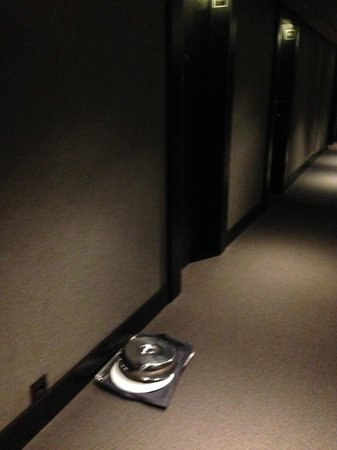 The Hotel - Brussels: Room service tray left on the corridor 24 hours