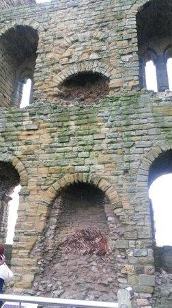 Scarborough Castle: amazing fireplaces still in situ