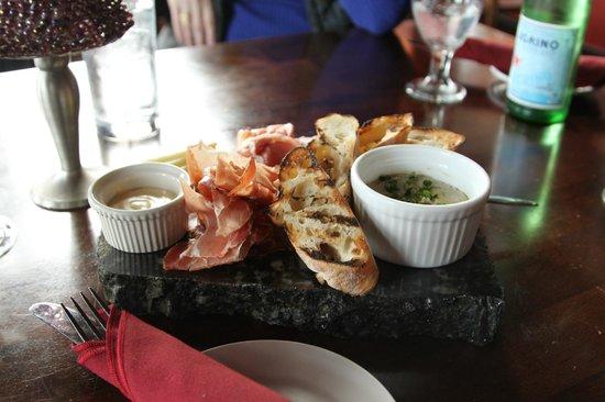 Alchemy Bistro and Wine Bar : The pate board.