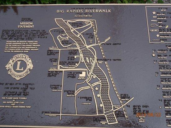Big Rapids Riverwalk: Map of River Walk