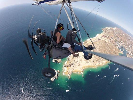 Club Cascadas de Baja : glider flight above cabo san lucas