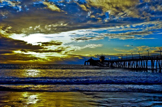 Imperial Beach Pier: Sunset in Imperial Beach
