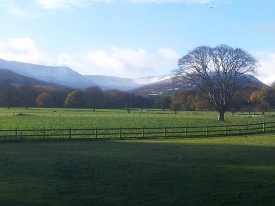 The Lodge Brecon B&B: View from breakfast room.