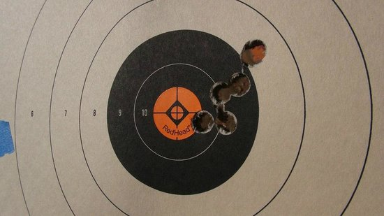 Mike Raahauge Shooting Range: Not bad for my daughter's first shots on a 44 Mag handgun!
