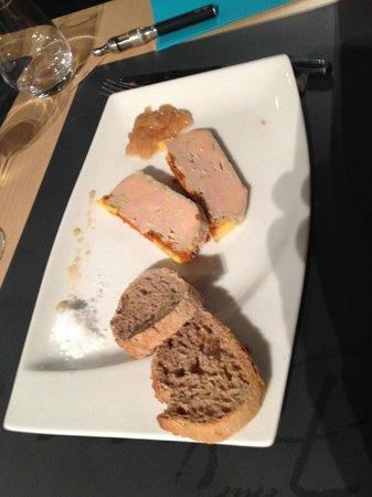 7 ème Vague Boniface : foie gars cuit au coulis de homard