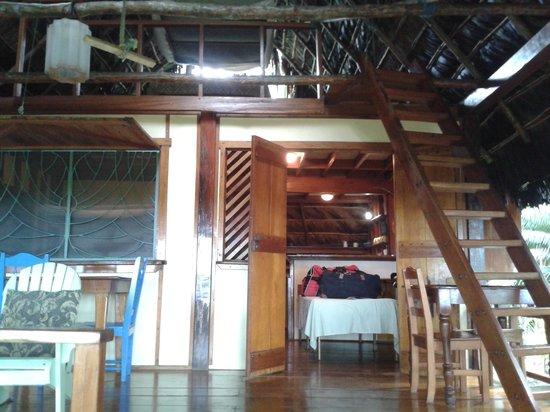 Cabinas Los Cocos: terrasse