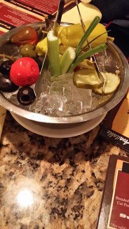 Black Angus Steakhouse: Useless vegetable bowl, aka relish bowl