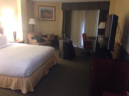 Hilton Houston Galleria Area: king bed, a lot of space