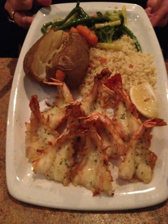The Greek Islands Mediterranean Grill and Bar : Santorini's Sizzling Garlic Shrimp - $22.99