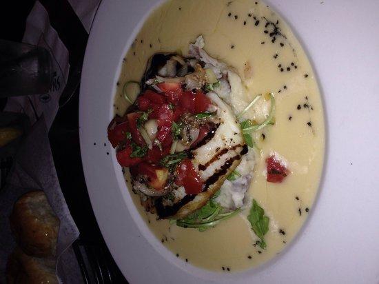 Seared 1200 Chophouse: Sea Bass - yum!!