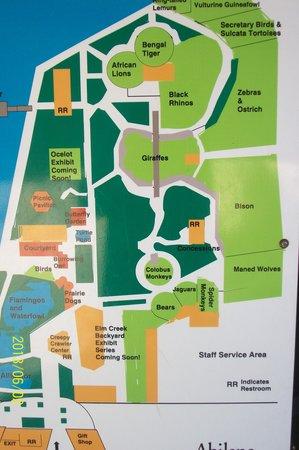 Abilene Zoo : Map of Zoo