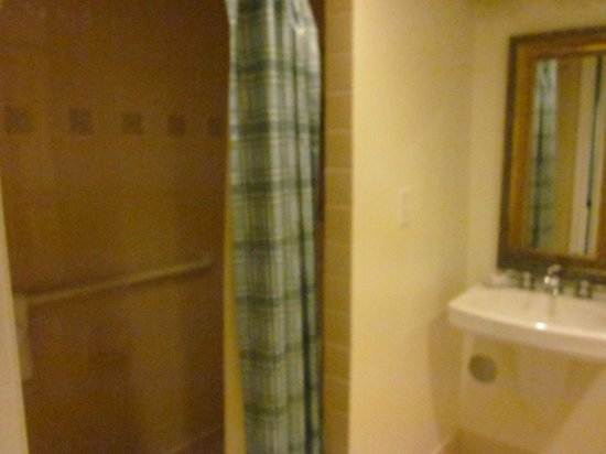 Disney's Saratoga Springs Resort & Spa: Handicap room 1st floor Grandstand Bathroom