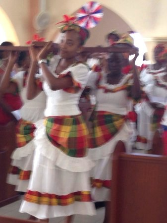Horizon View Beach Hotel: Feast of St Martin. The church rocked with native costumes and dance!