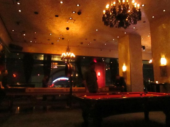 Moon Nightclub: The game room- pool tables, connect 4 and many other little games