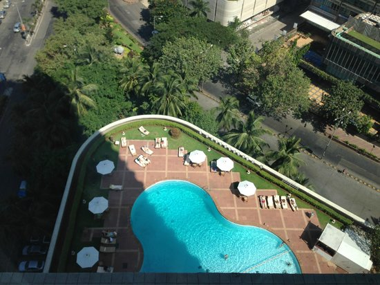 Trident, Nariman Point : The view from our room looking down to the pool