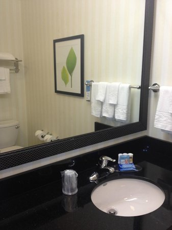 Fairfield Inn & Suites Ottawa Starved Rock Area: Bathroom mirror