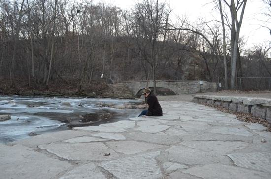 Minnehaha Park: nov 2013 by 2 nd bridge