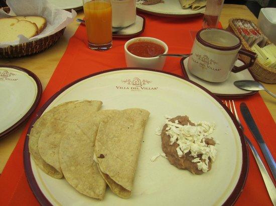 Hotel Villa del Villar: Desayuno