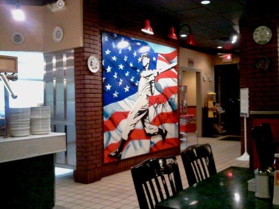 City Diner: Mickey Mantle Art