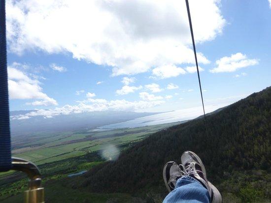 Great views from Flyin Hawaiian Zipline, Maui.