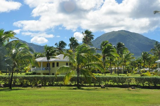 Nisbet Plantation Beach Club: Mt Nevis from Nisbet