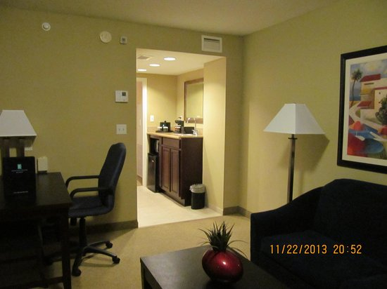 "Embassy Suites by Hilton Fort Myers - Estero: Desk and looking toward "" kitchen area '"