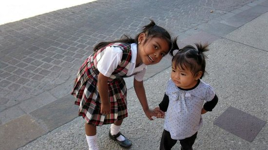El Zalate Villas: Babysitting her little sister -- random pic in SJDC
