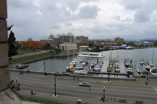 The Fairmont Empress: Harbor view from our room