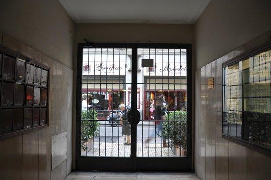 Hotel Cantoria: Front door