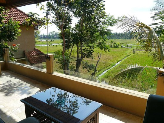 Green Field Hotel and Bungalows: Room terrace