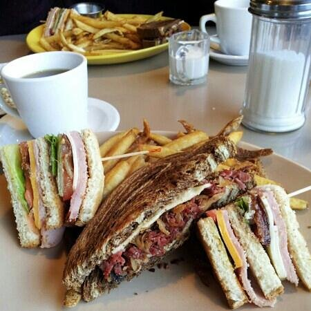 Philippe's: We ordered a Reuben and Club sandwich and switched halves ! Both wonderful!