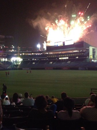 Turner Field: Friday Night Fireworks!!