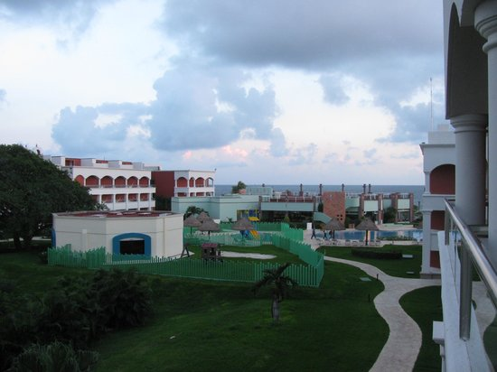 """Heaven at the Hard Rock Hotel Riviera Maya: Our """"ocean"""" view of the playground"""
