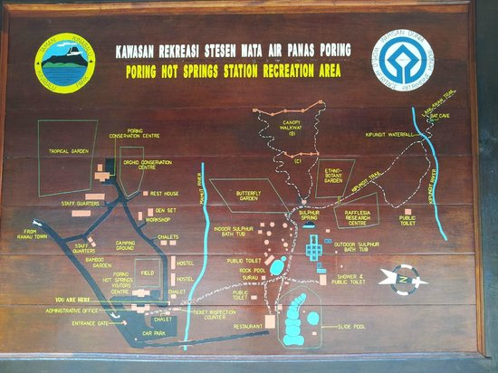 Map of the property Picture of Poring Hot Springs Kota Kinabalu