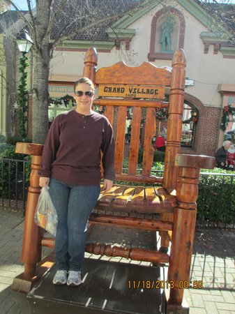 Grand Village Shops: Me at the rocking chair