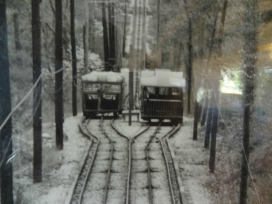 The Lookout Mountain Incline Railway: B/W picture from the past