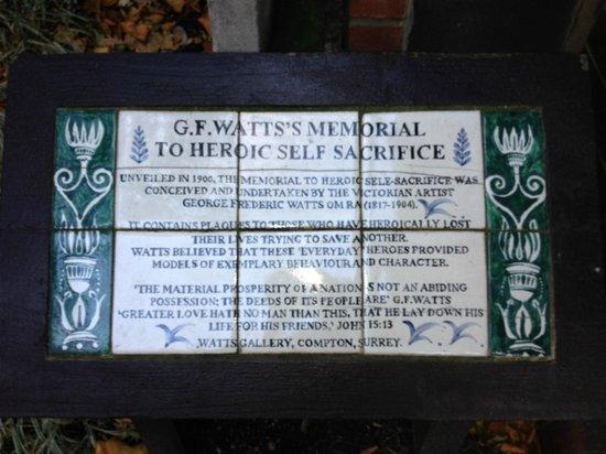 Postman's Park: Descriptive plaque