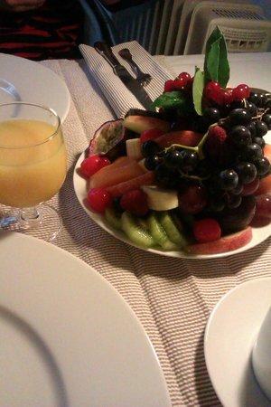 Hermitage de Saint-Antoine: les fruits au petit déjeuner
