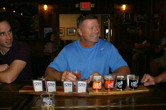 DeeTours of Santa Barbara: Happy hubby @ Figueroa Mountain Brewing Co
