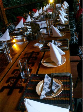 Table arrangement picture of the carnivore restaurant for Arabian cuisine nairobi