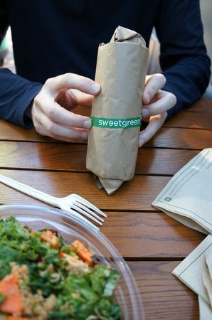 Sweetgreen: Wrap and salad