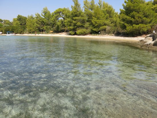 Ekies All Senses Resort: Пляж на острове.