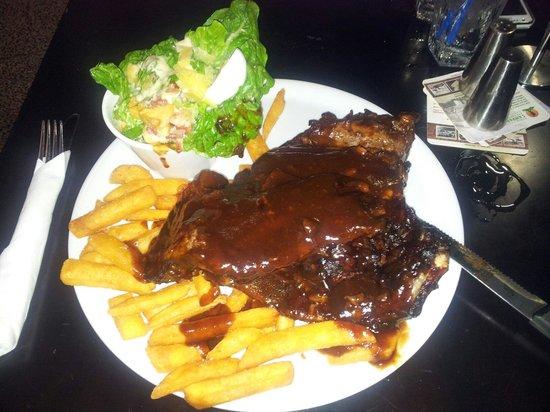GBT - Golden Beach Tavern: Smokey BBQ ribs, huge servings,  great taste